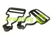 Carabiner buttons Loop black nickel 33 mm