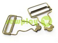 Carabiner buttons Loop antique 33 mm