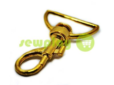Metal Carabiner for bags under the braid 35mm gold 35 mm x 60 mm sku 742