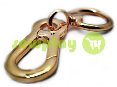Metal Carabiner for bags under the braid 25mm dull gold 25 mm * 105 mm sku 743