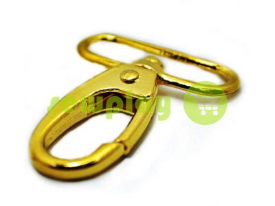 Metal Carabiner for bags under the braid 38mm gold 38 mm * 58 mm sku 745