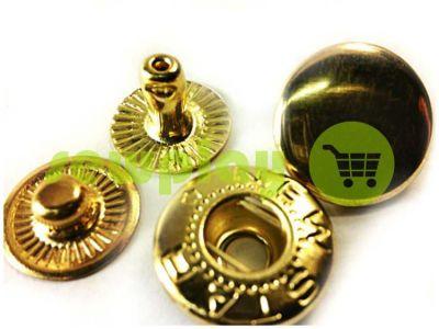 Button NEWstar-Alfa №54 smooth 12,5 mm gold Turkey, 72 pcs sku 776