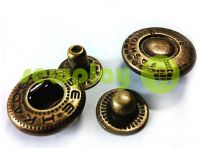 Button Alfa Fashion 15 mm antique China, 50 pcs