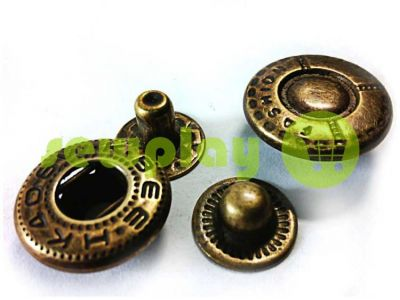 Button Alfa Fashion 15 mm antique China, 50 pcs sku 779