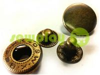Button Alfa smooth 15 mm 17 mm 20 mm antique China, 50 pcs