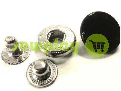 Button Alfa smooth 15 mm 17 mm 20 mm black China, 50 pcs sku 781
