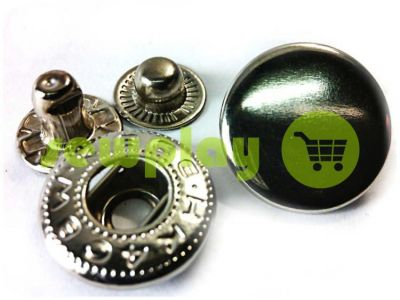 Button Alfa smooth 15 mm 17 mm 20 mm black nickel China, 50 pcs sku 784
