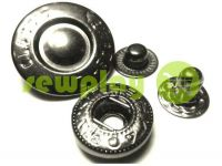 Button Alfa Fashion 15 mm black nickel China, 50 pcs