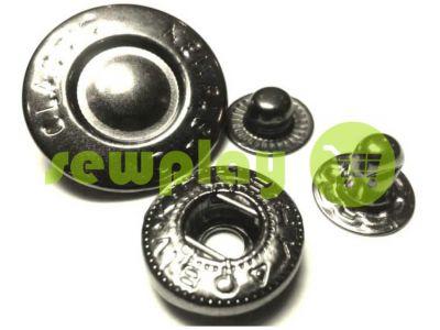Button Alfa Fashion 15 mm black nickel China, 50 pcs sku 783