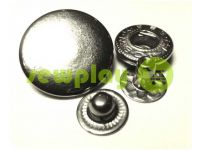 Button Alfa smooth 15 mm 17 mm 20 mm nickel China, 50 pcs
