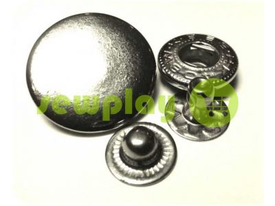 Button Alfa smooth 15 mm 17 mm 20 mm nickel China, 50 pcs sku 782