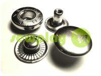 Кнопка NEWSTAR-Альфа №54 гладка 12,5 мм нікель Туреччина, 72 шт