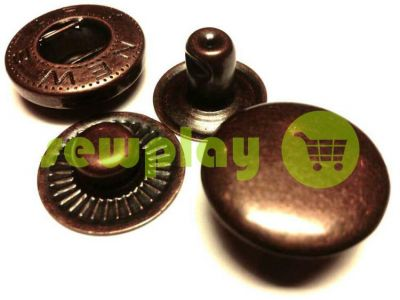 Button NEWstar-Alfa №54 smooth 12,5 mm antique Turkey, 72 pcs sku 816