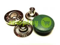 Button Alfa with black plastic cap 15 mm oxide China, 50 pcs sku 790