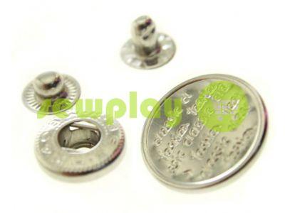 Button Alfa Print 12 mm, 15 mm, 20 mm nickel China, 50 pcs sku 792