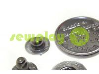 Button Alfa Print 12 mm, 15 mm, 20 mm black nickel China, 50 pcs sku 793