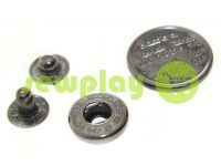 Button Alfa Print 12 mm, 15 mm, 20 mm black nickel China, 50 pcs