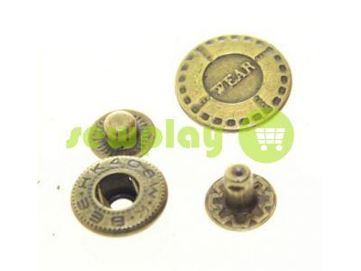 Кнопка Alfa Wear 17 mm антик Китай, 50 шт арт 794
