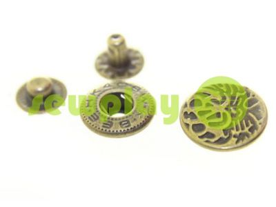 Button Alfa Abstract 15 mm antique China, 50 pcs sku 795