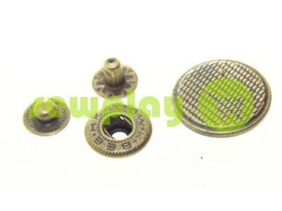 Button Alfa Corf 20 mm antique China, 50 pcs sku 796