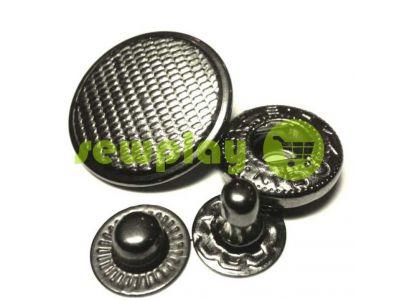 Button Alfa Corf 20 mm black nickel China, 50 pcs sku 797