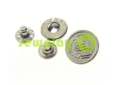 Button Alfa Blazon 17 mm black nickel China, 50 pcs sku 798