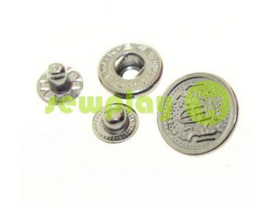 Кнопка Alfa Blazon 17 mm темный никель Китай, 50 шт арт 798
