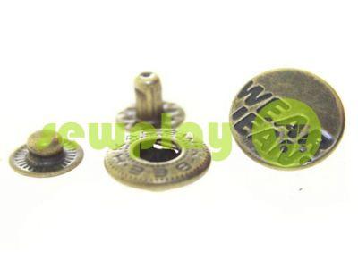 Кнопка Alfa Wear Jeans 15 mm антик Китай, 50 шт арт 799