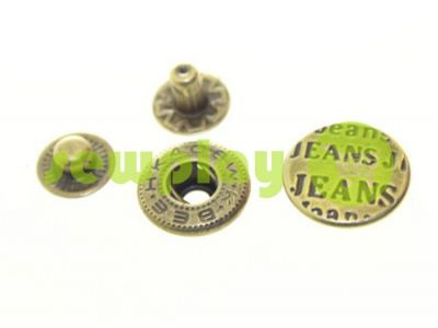 Button Alfa Jeans 15 mm antique China, 50 pcs sku 800