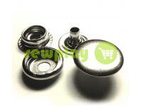 Кнопка NEWSTAR №61 гладка 12,5 мм нікель Туреччина, 72 шт