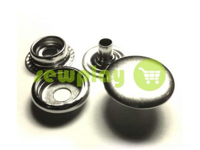 Кнопка NEWstar №61 гладкая 15 mm никель Турция, 72 шт арт 803