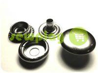Кнопка NEWstar №61 гладкая 12,5 mm темный никель Турция, 72 шт