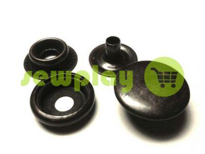 Кнопка NEWstar №61 гладкая 15 mm оксид Турция, 72 шт арт 806