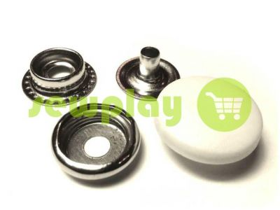 Button NEWstar №61 with a white plastic cap 15 mm, 17 mm, 20 mm Turkey, 72 pcs sku 808