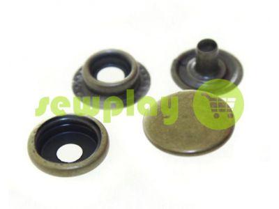 Button NEWstar №61 stainless smooth 12,5 mm antique Turkey, 72 pcs sku 1562