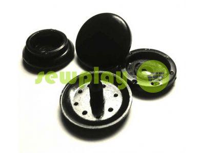 Button NEWstar №61 plastic 12,5 mm, 15 mm black Turkey, 100 pcs sku 822