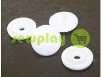Button NEWstar №61 plastic 9,5 mm white Turkey, 100 pcs sku 825