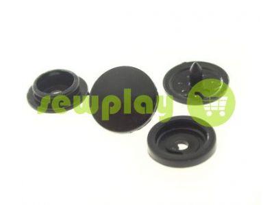 Button NEWstar №61 plastic 9,5 mm black Turkey, 100 pcs sku 826