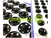 Button HuaTai Sew black metal 8,5 mm 50 pc