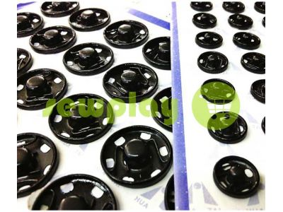 Button HuaTai Sew black metal 8,5 mm 50 pc sku 827