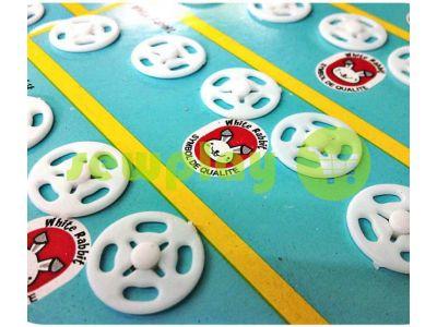 Button White Rabbit sew plastic white 8 mm - 20 mm sku 829