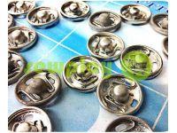 Кнопка TwoBirds пришивная металлическая никель