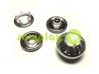 Кнопка трикотажная Gripper с камнем 9,5 mm никель, 72 шт