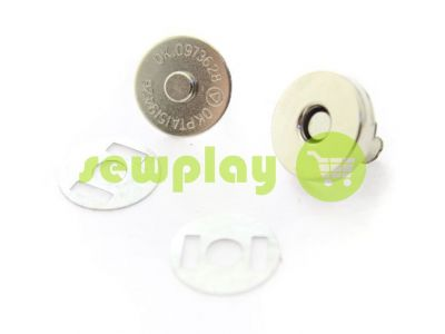 Button magnet for bags 15 mm 17mm nickel sku 836
