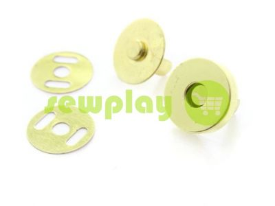 Button magnet for bags 15 mm 17 mm gold  sku 839
