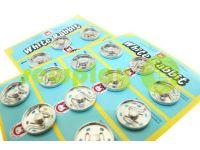 Button White Rabbit sewing metal nickel 17 mm - 30 mm sku 841
