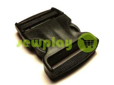 Plastic carabiner two-button two-class 50 mm the black sku 854