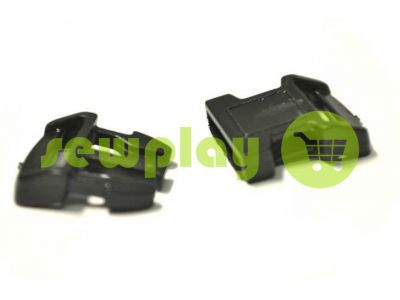 Plastic carabiner two-button two-class garter 15 mm the black sku 849