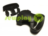 Plastic carabiner two-button two-class decorative 20 mm the black