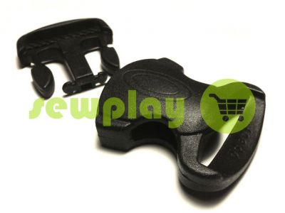 Plastic carabiner two-button two-class decorative 20 mm the black sku 851